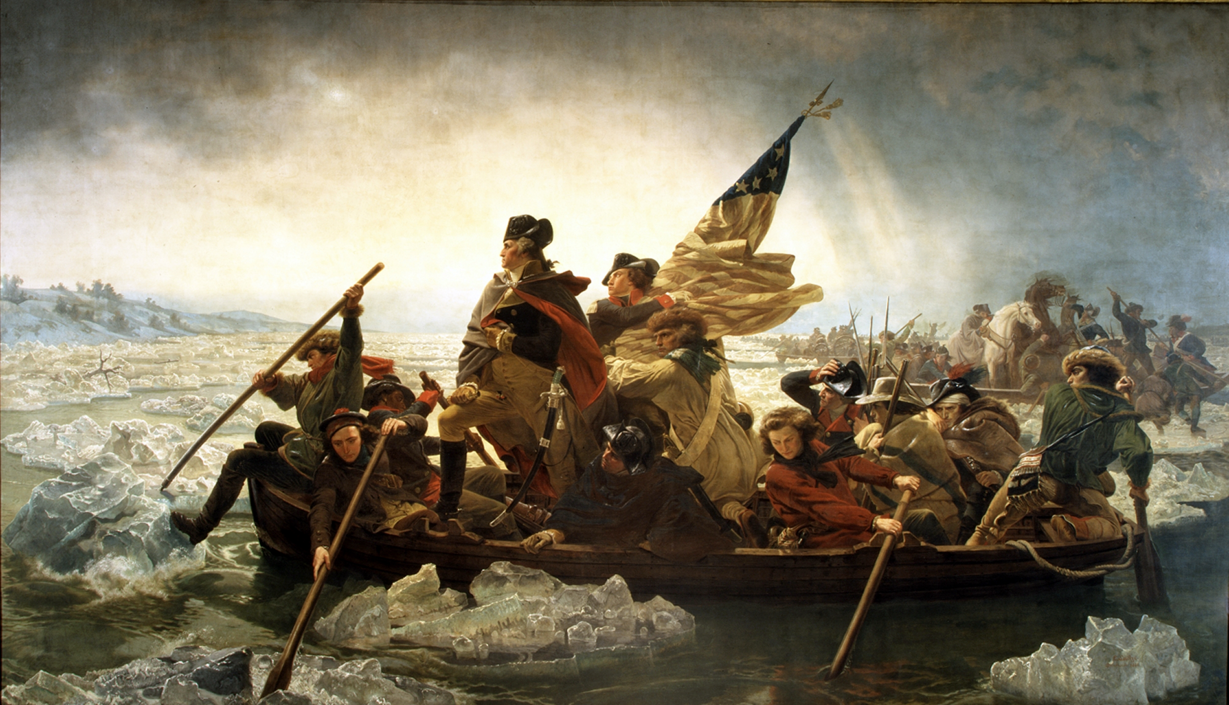 Image result for washington crossing the delaware river